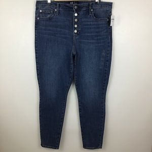 Gap High Rise Button Fly Legging Stretch Jeans